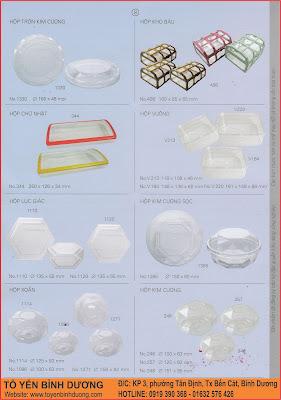 Hộp nhựa đựng tổ yến 50g 100g ở Hà Nội