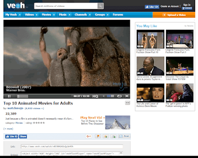Veoh is a great video hosting site particularly for popular TV shows
