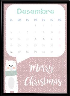 Calendario desembre vertical