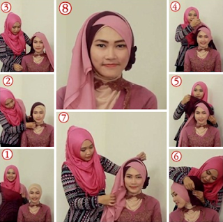Tutorial Hijab Kebaya Simple