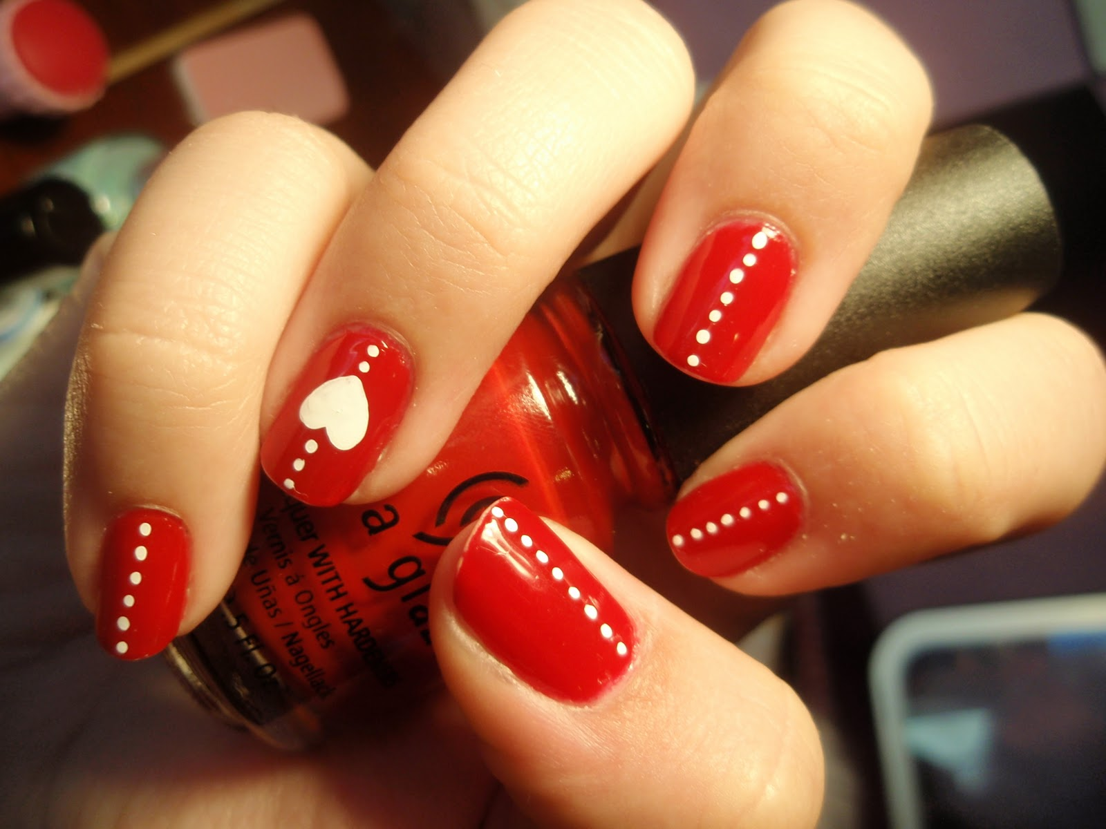 Stylish red nail polish spring 2012