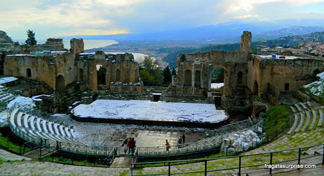 Viagens inspiradas em filmes - Sicília: Teatro Grego de Taormina,  (Poderosa Afrodite)