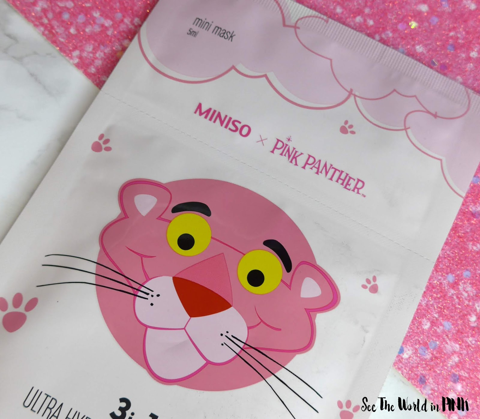 Miniso x Pink Panther 3 in 1 Ultra Hydration Facial Mask