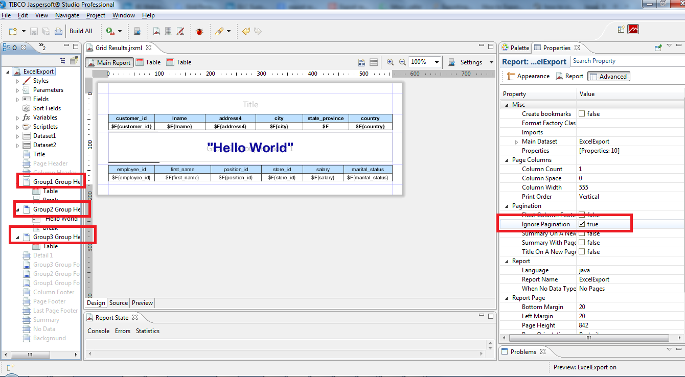 JasperSoft BI Suite Tutorials: Export report output to ...
