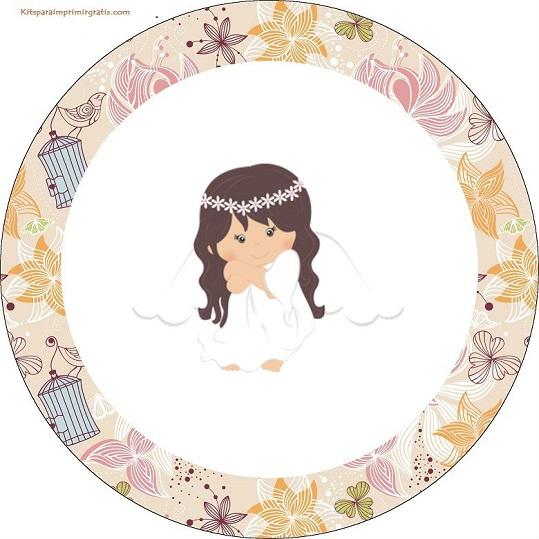 Angelita en jard n vintage mini kit para fiesta de primera comuni n para imprimir gratis oh - Etiquetas comunion para imprimir en casa gratis ...