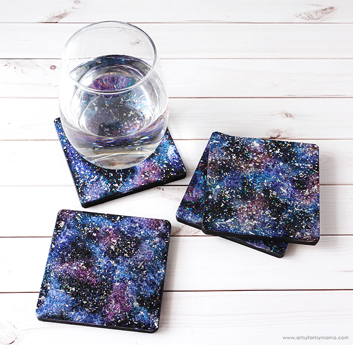 DIY Galaxy Coasters