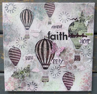 Faith Canvas by Lynn Shokoples for BoBunny featuring the Beautiful Dreamer Collection