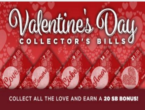Swagbucks Valentine's Day Collector's Bills