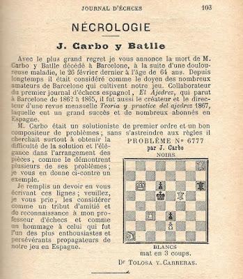 Necrológica de Joan Carbó i Batlle
