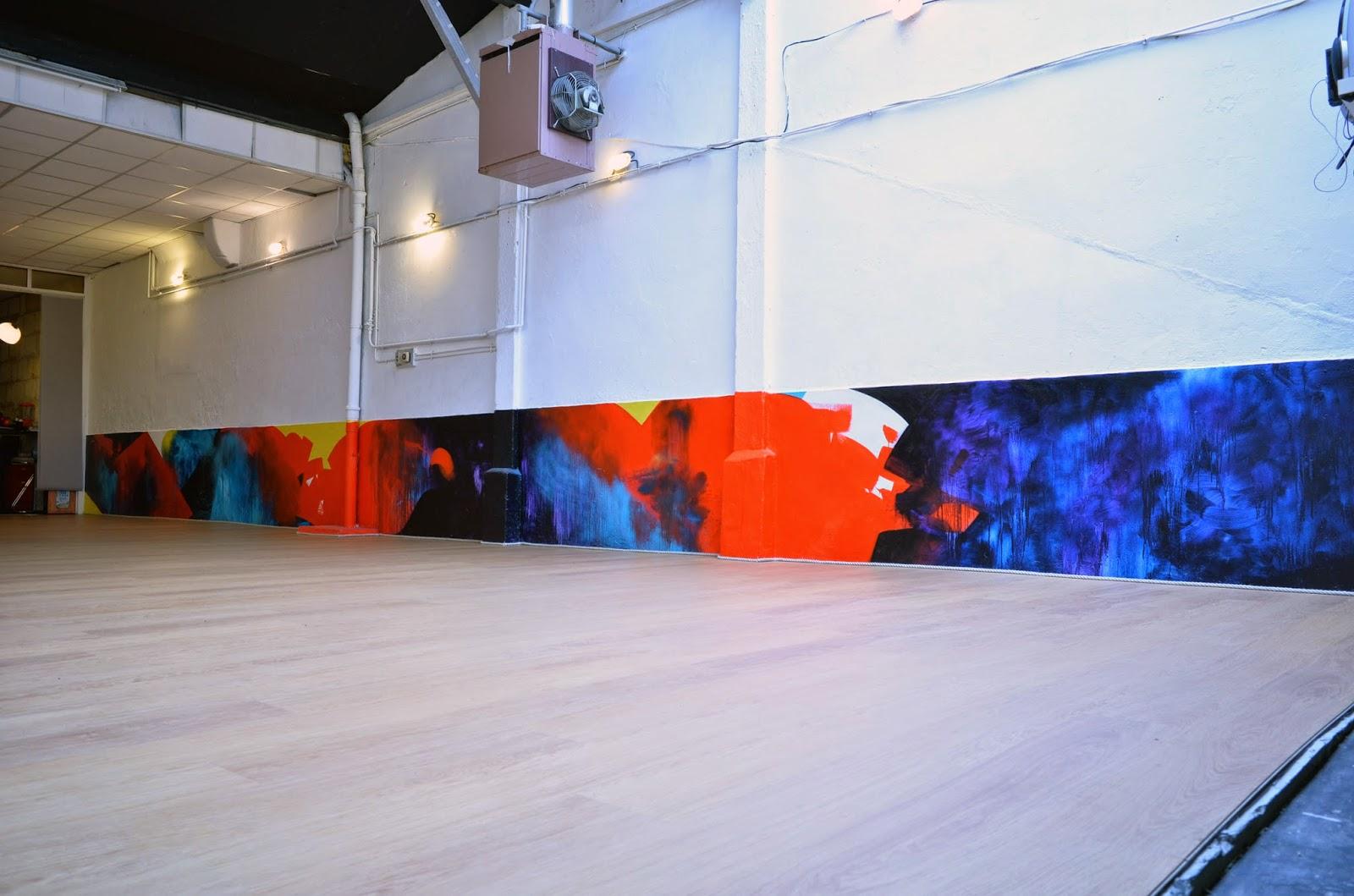 peinture acrylique abstraite jbb salle de danse