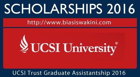 UCSI University Trust Graduate Assistantship 2016