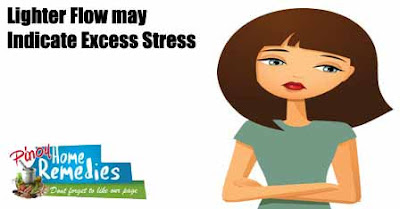 Lighter Flow may Indicate Excess Stress