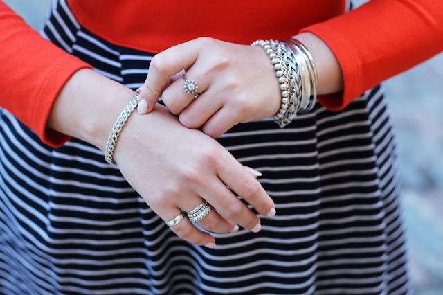 Silver jewellery - London fashion blogger Emma Louise Layla