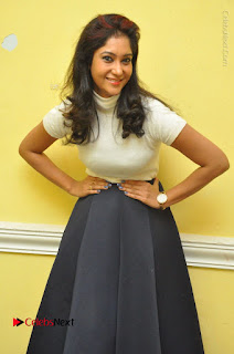 Telugu Actress Sindhu Affan Latest Pos in Black Skirt at Www.Meena Bazaar Movie Opening  0006.JPG