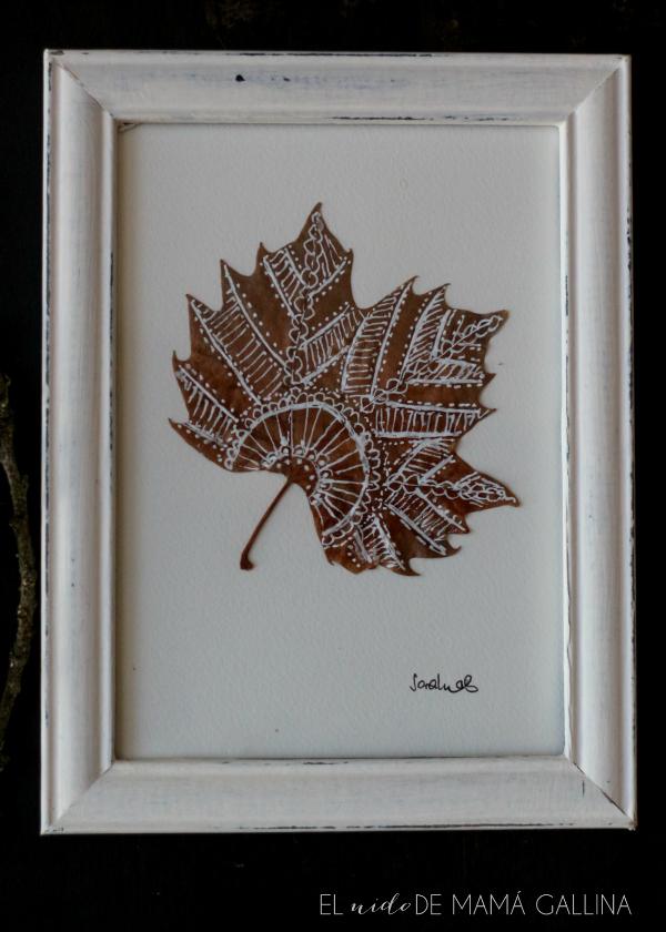 hojas pintadas