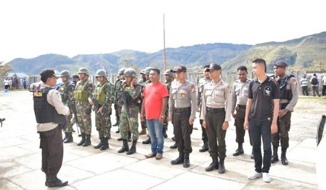 Polres Lanny Jaya Amankan Pelantikan 71 Kades