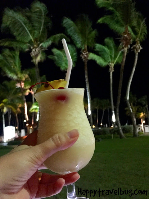 Pina Colada at its birth place, the Caribe Hilton in San Juan, Puerto Rico