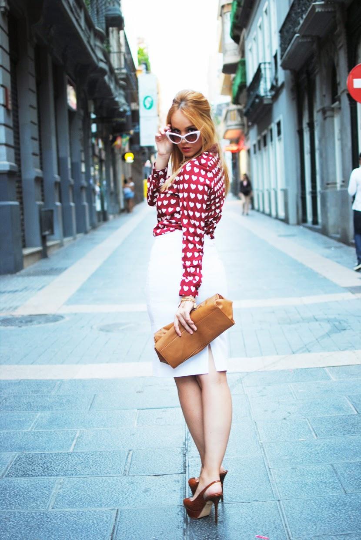 camisa corazones burberry, clon burberry, choies blouse, hearts blouse, nery hdez, falda midi