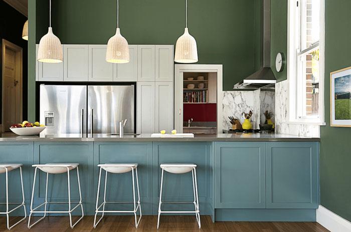 pastel renkler mutfak dolapları