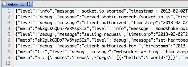 Logger for socket io & save the message into Redis | just
