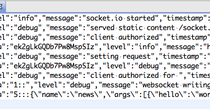 just for my memo: Logger for socket io & save the message