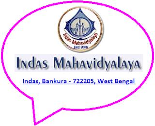 Indas Mahavidyalaya, Indas, Bankura - 722205, West Bengal
