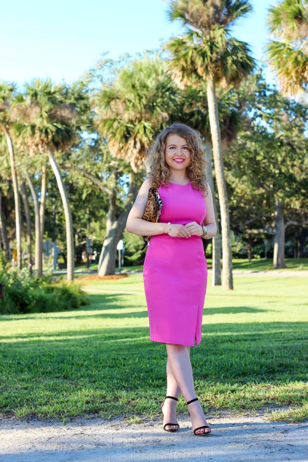 Pink Sheath Dress