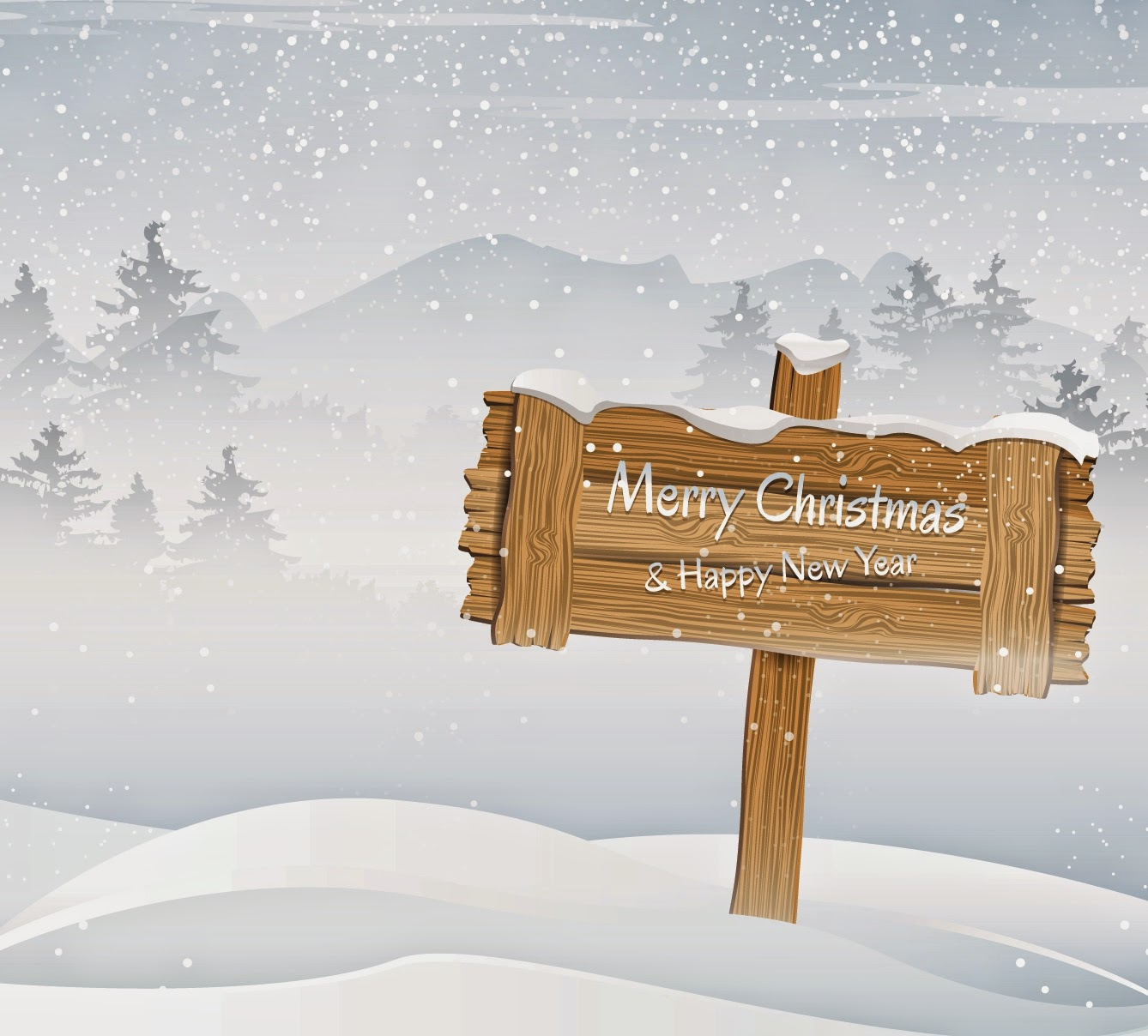 Merry-Christmas-and-happy-new-year-wooden-board-in-snow-vector-image-picture.jpg
