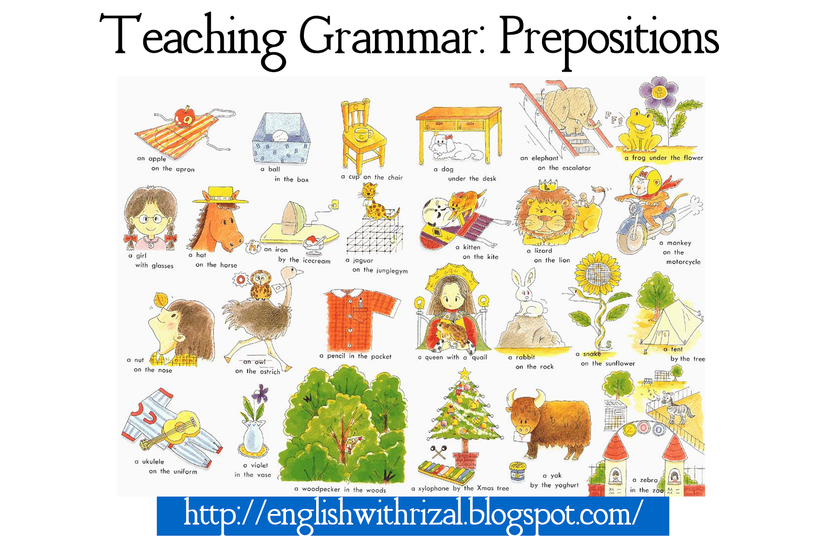 English With Rizal Lesson Plan Teaching Prepositions