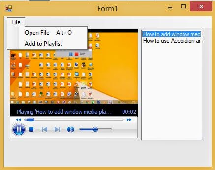 How to make video and mp3 player in windows form c#