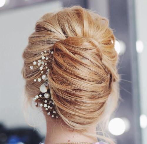 Pleasing Bridal French Twist Hairstyles Short Hairstyles Gunalazisus
