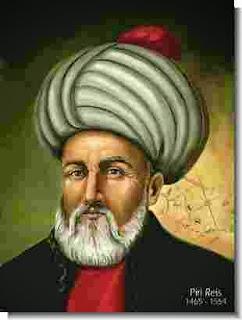 Biografi Piri Reis (Tokoh Geografi Ottoman)  Piri Reis (nama lengkap Hadji Muhiddin Piri Ibn Hadji Mehmed, Reis / Rais adalah Turki untuk kapten) adalah seorang ahli geografi Ottoman kaptan-i Derya, dan pembuat peta lahir antara 1465 dan 1470 dan meninggal pada 1554 atau 1555. Ia terutama dikenal hari ini untuk peta dan grafik dikumpulkan dalam-Kitab, aku Bahrie (Kitab Navigasi), sebuah buku yang berisiinformasi rinci tentang navigasi serta sangat akurat untuk grafik waktu menggambarkan kota-kota pelabuhan penting dan Laut Mediterania .   Ia memperoleh ketenaran sebagai kartografer ketika sebuah bagian kecil dari peta dunia pertama (disiapkan pada tahun 1513) ditemukan pada tahun 1929 di Istana Topkapi di Istanbul. peta dunia-Nya  adalah atlas tertua Turki dikenal menunjukkan Dunia Baru, dan salah satu peta tertua Amerika masih ada di dunia. (Peta tertua Amerika yang masih ada adalah peta ditarik oleh Juan de la Cosa pada tahun 1500,  yang disimpan di Museum Angkatan Laut (Museo Naval) dari Madrid,Spanyol.) Peta Piri Reis 'berpusat di Sahara di Tropic of Cancer lintang.  Pada tahun 1528 Piri Reis menggambar peta dunia kedua, dimana sebuah fragmen kecil yang menunjukkan Greenland dan Amerika Utara dari Labrador dan Newfoundland di utara ke