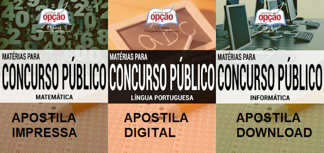 Apostila matérias para concurso público Fundac PB 2017 para agente socioeducativo