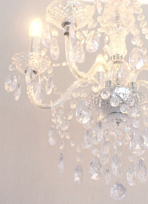 Image of glass chandelier