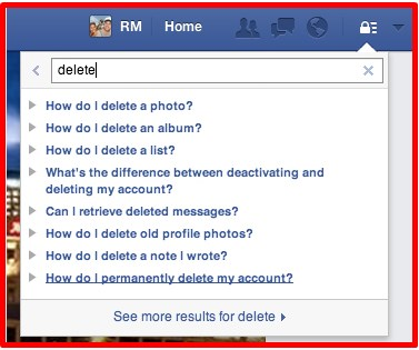 how do you delete a facebook account without logging in