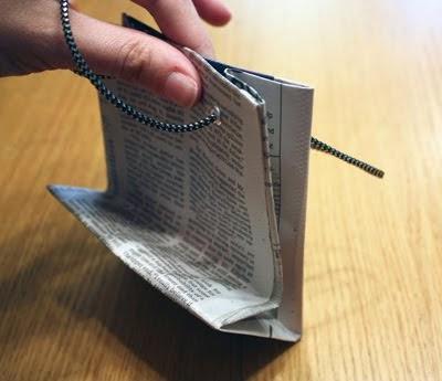 Kerajinan Tangan Dari Barang Bekas - Tas Koran Bekas 4