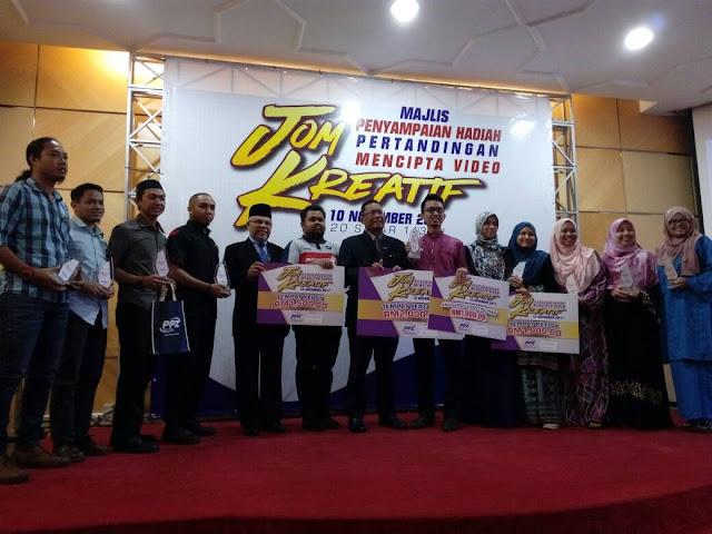 Majlis Penyampaian Hadiah Pertandingan Mencipta Video JOM KREATIF