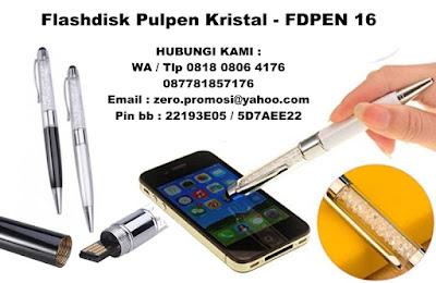 Flashdisk pen KRISTAL, Flashdisk Pulpen Art, Pulpen KRISTAL usb, USB PEN CRYSTAL FDPEN16, pen usb stylus - USB FLASHDISK MURAH di tangerang