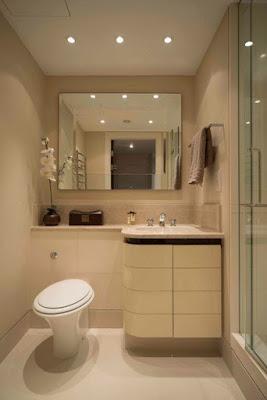 แบบห้องน้ำขนาดเล็กไฟดาวน์ไลท์