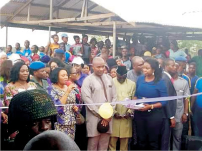 Gov's Wife inaugurates 215 FEYReP's posh market sheds in Ikono *Says we are proud of Itoro Columba