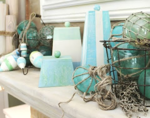 diy beach summer mantle