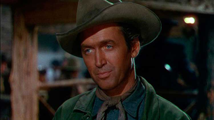 Jimmy Stewart stars as Glyn McClyntock in Bend of the River.