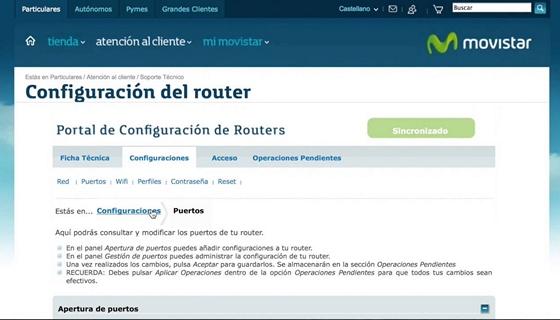 Portal Alejandra de Movistar