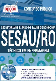 Apostila Impressa Concurso SESAU-RO TÉCNICO EM ENFERMAGEM.