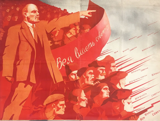 """All power to the Soviets!"" - Vladimir Ilyich Lenin. Hobgoblin MarchMatron.com"