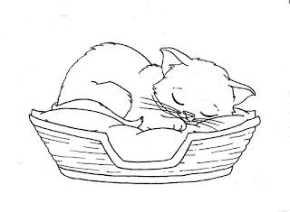 Sleep Cat Coloring Pages Download For Kids