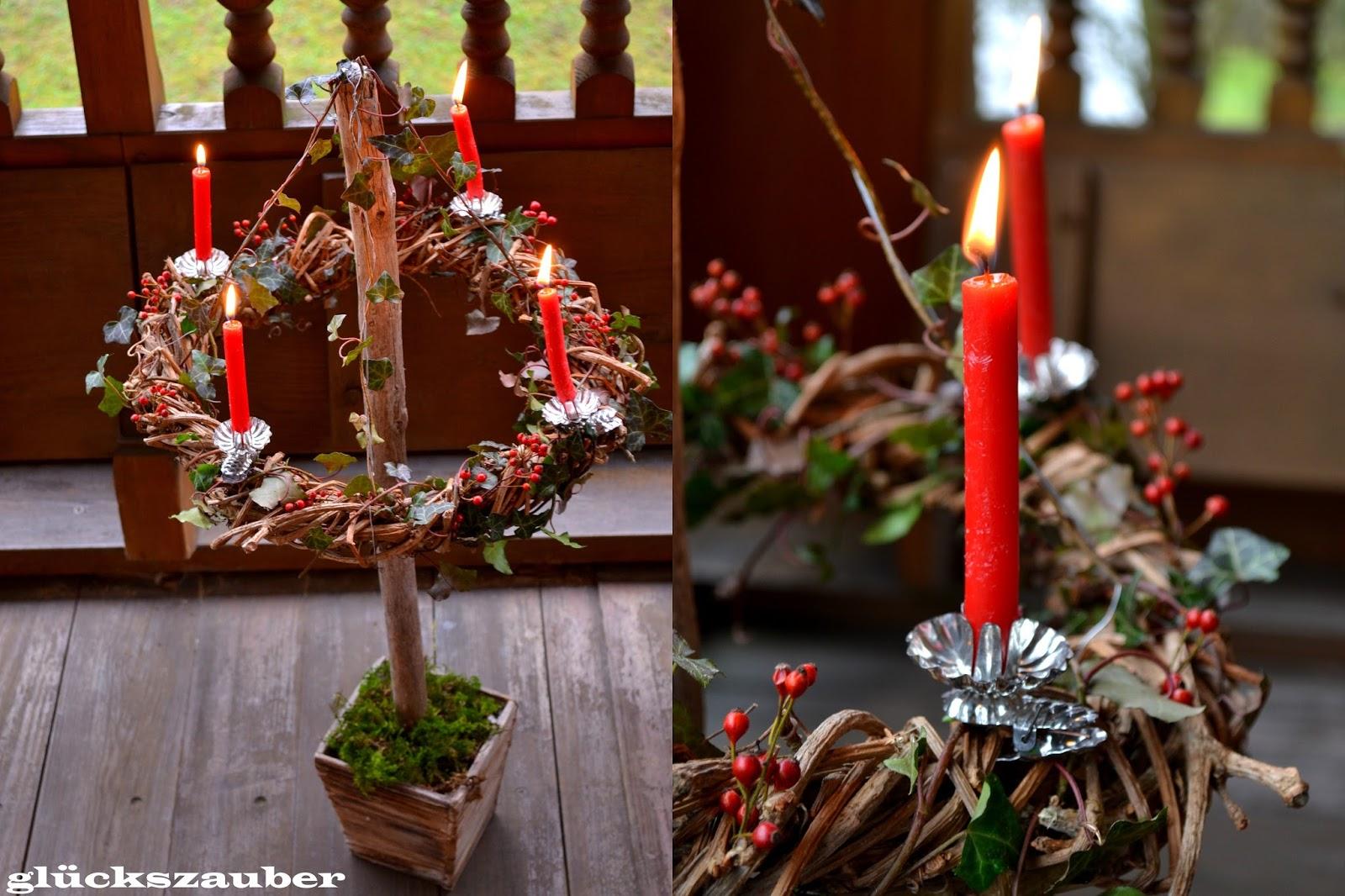 gl ckszauber h ngender adventskranz und weihnachtsbaum. Black Bedroom Furniture Sets. Home Design Ideas