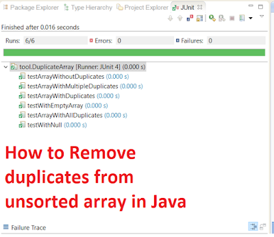 How to Remove Duplicates from Unsorted Array in Java
