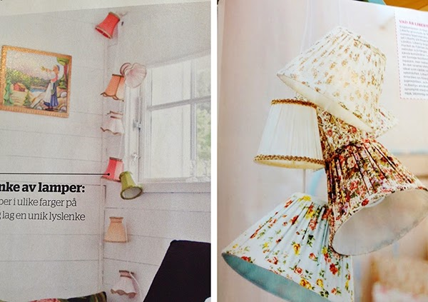 Hand stitched and covered lampshades Inspiration/ideas