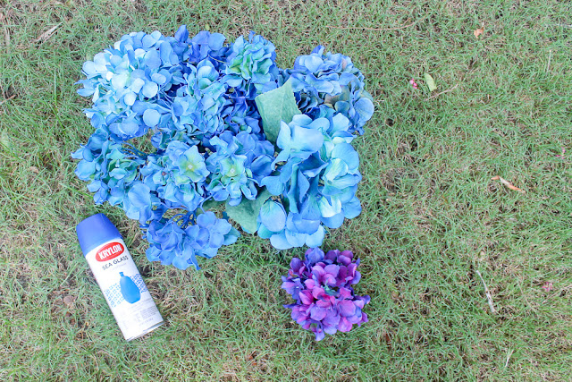 change flower color with spray paint
